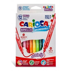 Μαρκαδόροι Ζωγραφικής Carioca Birello 12 Χρώματα Medium Fine