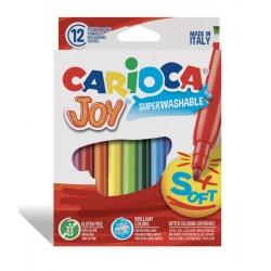 Μαρκαδόροι Ζωγραφικής Carioca Joy 12 Χρώματα Fine